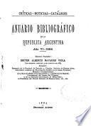 Anuario bibliografico de la Republica Argentina