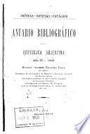 Anuario bibliográfico de la República Arjentina