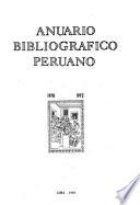 Anuario bibliográfico peruano