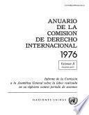 Anuario de la Comisión de Derecho Internacional 1976, Vol.II, Part 2