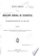 Anuario de la Dirección General de Estadística