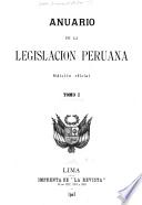 Anuario de la legislacion peruana