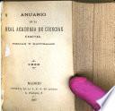 Anuario de la Real Academia de Ciencias Exactas, Fisicas y Naturales de Madrid