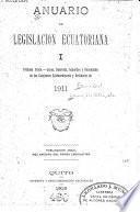 Anuario de legislación ecuatoriana correspondiente á ...