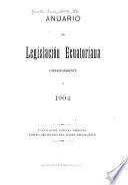 Anuario de legislación ecuatoriana