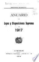 Anuario de leyes y disposiciones supremas