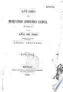 Anuario del Observatario astronomico nacional de Tacubàya