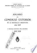 Anuario estadístico de la Republica Argentina, comercio exterior