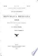 Anuario estadístico de la República Mexicana ...