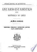 Anuario estadístico de la Reṕublica de Chile