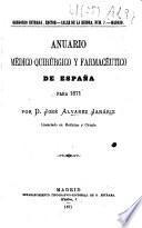 Anuario médico-quirúrgico y farmacéutico de España