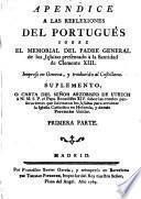Apéndice a las reflexiones del portugués sobre el memorial del P.General...