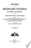 Apéndice al Diccionario universal de historia y de geografía