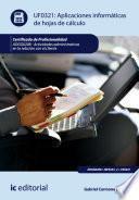 Aplicaciones informáticas de hojas de cálculo. ADGG0208
