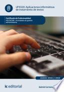 Aplicaciones informáticas de tratamiento de textos. ADGD0308 - Actividades de gestión administrativa