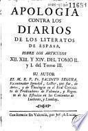 Apología contra los Diarios de los literatos de España