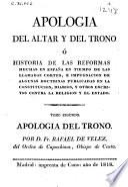 Apologia del altar y del trono