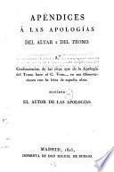 Apologiá del Altar y del Trono