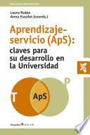 Aprendizaje-servicio (ApS): claves para su desarrollo en la universidad