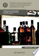 Aprovisionamiento y almacenaje de alimentos y bebidas en el bar. HOTR0208