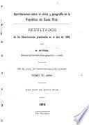 Apuntaciones sobre el clima y geografía de la República de Costa Rica