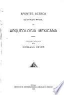 Apuntes de arqueología mexicana