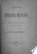 Apuntes de epigrafía mexicana