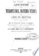 Apuntes de terapéutica, materia médica y arte de recetar