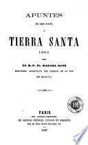 Apuntes de una visita a Tierra Santa, 1864
