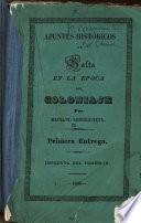 Apuntes históricos de Salta en la epoca del coloniaje