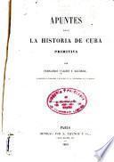 Apuntes para la historia de Cuba primitiva