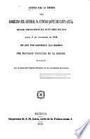 Apuntes para la historia del gobierno del general d. Antonio López de Santa-Anna