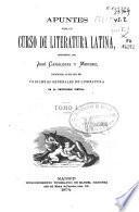 Apuntes para un curso de literatura latina