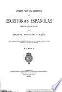 Apuntes para una biblioteca de escritoras españolas