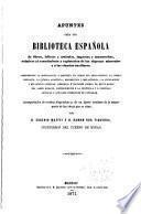 Apuntes para una biblioteca española de libros