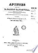 Apuntes que dedica al señor D. Ramon Capdevila Don José María Agea