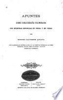 Apuntes sobre bibliografía colombiana
