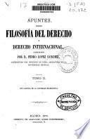 Apuntes sobre filosofía del derecho y derecho internacional