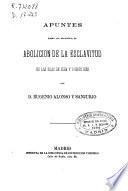 Apuntes sobre los proyectos de abolición de la esclavitud en las islas de Cuba y Puerto Rico