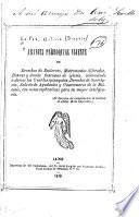 Arancel parroquial vijente de derechos de entierros, matrimonios alferados, honras y demas funciones de iglesia