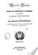 Aranceles generales para todos los tribunales y juzgado de la península e islas adyacentes y para los alcaldes constitucionales, mandados observar por S. M., en virtud de decreto de las Cortes, desde 1 de febrero de 1838