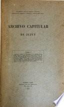 Archivo capitular de Jujuy