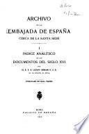 Archivo de la Embajada de España cerca de la Santa Sede