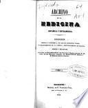 Archivo de la medicina española y estrangera