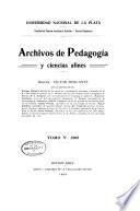 Archivos de pedagogía y ciencias afines