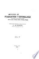 Archivos de psiquiatría y criminología