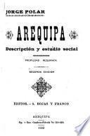 Arequipa, descripción y estudio social ...