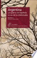 Argentina y la guerra civil española. La voz de los intelectuales