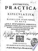 Aritmetica practica y especulativa