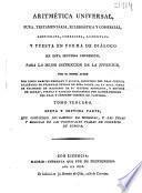 Aritmética universal, pura, testamentária, eclesiástica y comercial